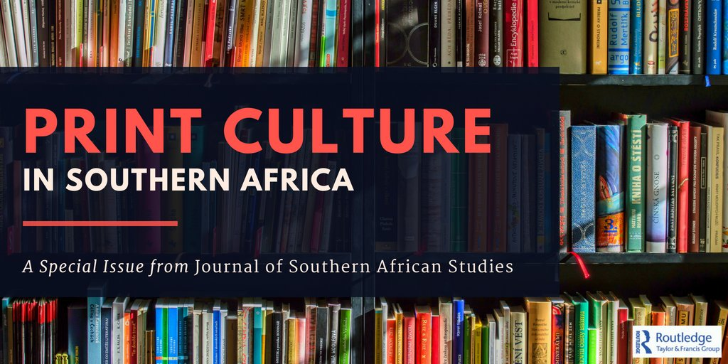 Image for Print Culture in Southern Africa', Journal of Southern African Studies (44, 3)
